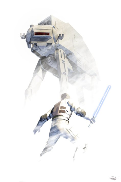Star Wars, Hoth, AT-AT, Luke Skywalker