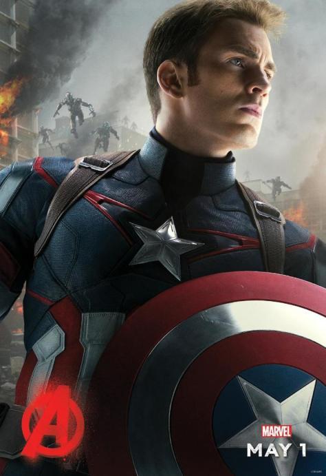 Captain America, Chris Evans, Avengers Age of Ultron