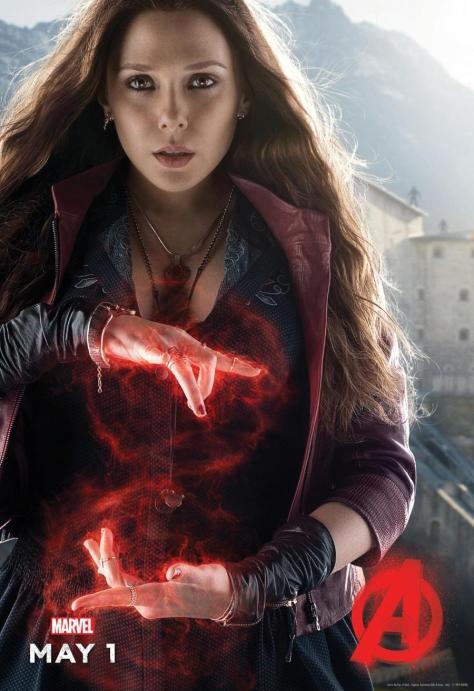 Scarlet Witch, Avengers: Age of Ultron, Wanda Maximoff, Elizabeth Olsen