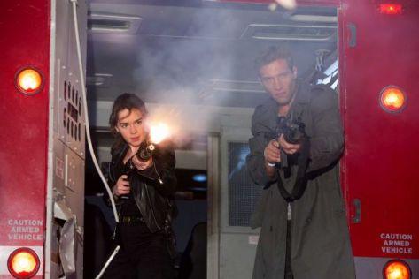 Emilia Clarke, Jai Courteny, Terminator: Genisys, Sarah Connor, Kyle Reese