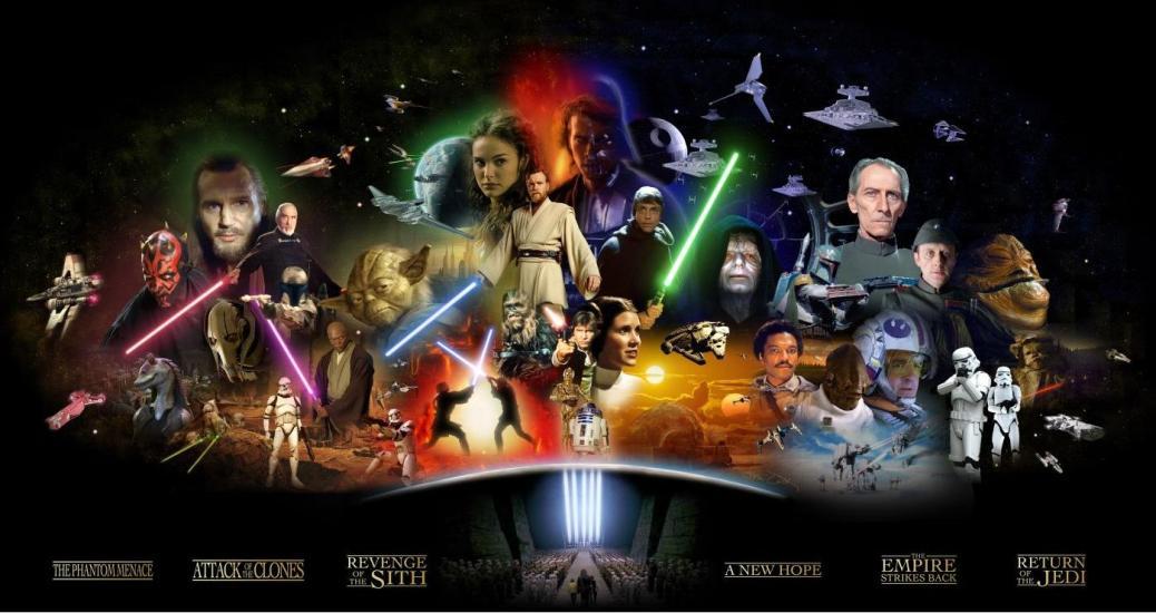 Star Wars, Star Wars Episode I, Star Wars Episode II, Star Wars Episode III, Star Wars Episode IV, Star Wars Episode V, Star Wars Episode VI, Darth Vader, Luke Skywalker, Anakin Skywalker, Yoda, Darth Maul, Darth Sidious,