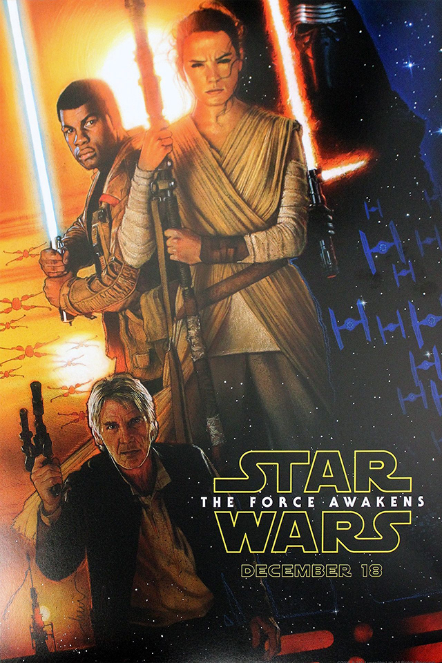 Star Wars Episode VII: The Force Awakens, Daisy Ridley, John Boyega, Adam Driver, Harrison Ford