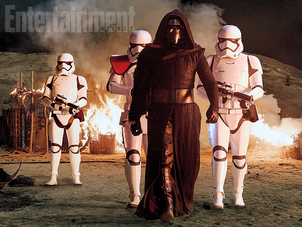 Kylo Ren, Adam Driver, Stormtroopers, Star Wars Episode VII