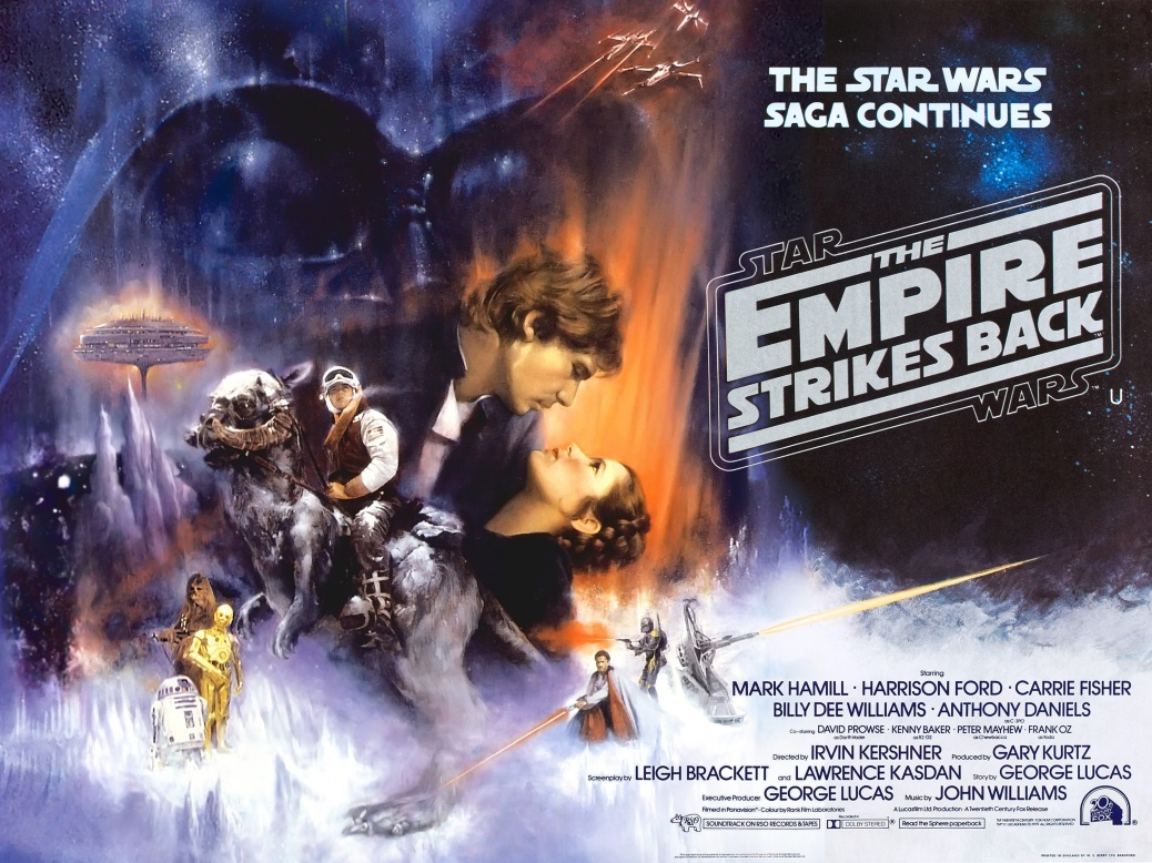 Star Wars, Star Wars The Empire Strikes Back, Star Wars Episode V: The Empire Strikes Back, Han Solo, Princess Leia, Luke Skywalker, Darth Vader, Yoda