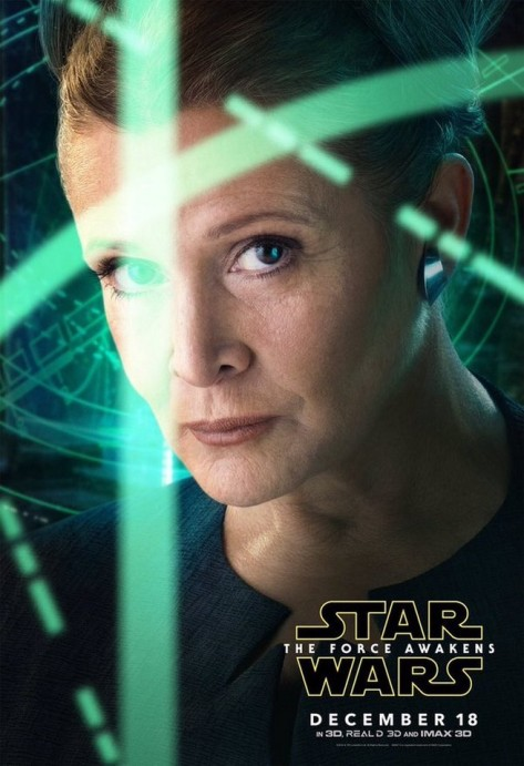 Carrie Fisher, Princess Leia, Star Wars, Star Wars Episode VII