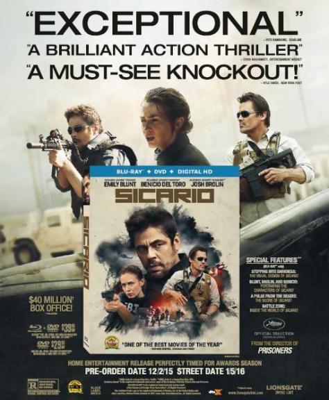 Sicario, Emily Blunt, Benicio del Toro