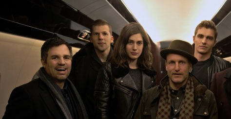 Mark-Ruffalo-Jesse-Eisenberg-Lizzy-Caplan-Woody-Harrelson-Dave-Franco-Daniel-Radcliffe-Michael-Caine-on-set-of-Now-You-See-Me-2-slice
