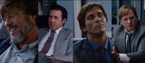 Ryan Gosling, Steve Carell, Brad Pitt, Christian Bale