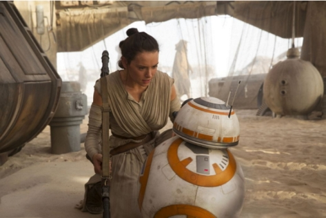 Star Wars Episode VII, Rey, BB-8, Daisy Ridley