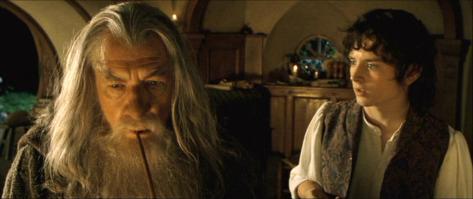 The Lord of the Rings: The Fellowship of the Ring, Gandalf, Frodo Baggins, Ian McKellan, Elijah Wood