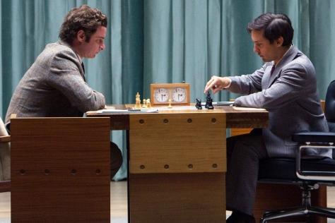 Bobby Fischer, Boris Spasskey, Liev Schrieber, Tobey Maguire, Pawn Sacrifice