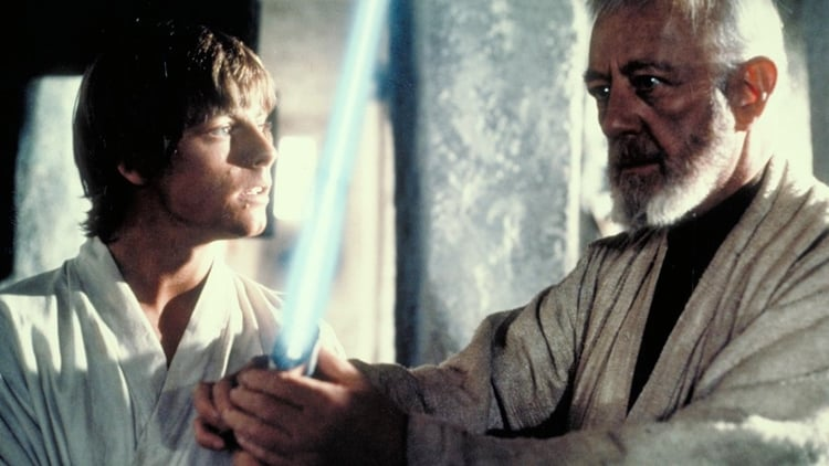 Obi-Wan Kenobi, Luke Skywalker, Mark Hamill, Alec Guiness, Star Wars, Star Wars Episode IV: A New Hope