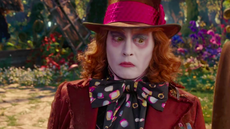 Johnny Depp, The Mad Hatter, Alice Through the Looking Glass