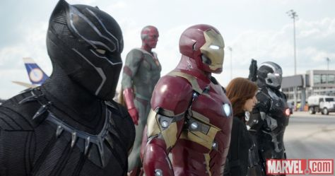 Black Panther, Iron Man, Vision, Black Widow, War Machine, Captain America: Civil War