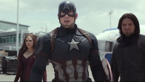 Captain America, Scarlet Witch, Winter Soldier, Chris Evans, Elizabeth Olsen, Sebastian Stan