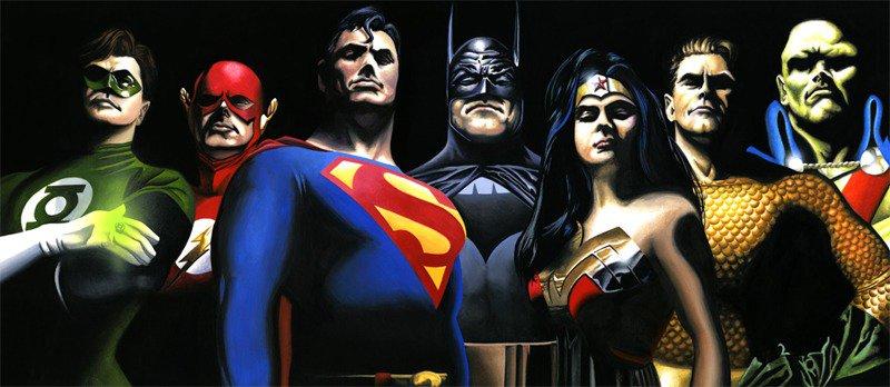 Justice League, Batman, Superman, Wonder Woman, Green Lantern, Flash, Aquaman