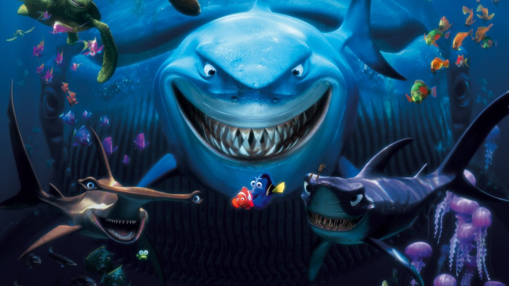 Finding Nemo, Bruce the Shark, Dory, Marlin, Nemo, Ellen DeGeneres, Albert Brooks