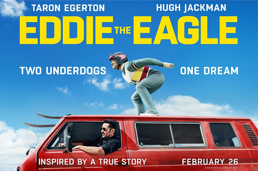 Edde the Eagle, Eddie Edwards, Hugh Jackman Taron Egerton