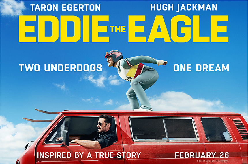 Edde the Eagle, Eddie Edwards, Hugh Jackman Taron Egerton