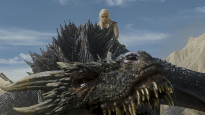 Game of Thrones, Danerys Targaryen, Drogon, Emilia Clarke
