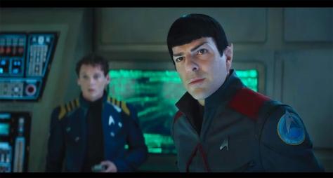 Star Trek Beyond, Zachary Quinto, Mr. Spock, Chekov, Anton Yelchin