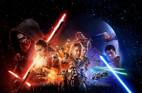 Star Wars Star Wars Episode VII, Star Wars Episode VII: The Force Awakens, Kylo Ren, Finn, Rey, Poe Dameron, Han Solo, General Leia Organa, Starkiller Base, Captain Phasma, BB-8, Maz Kanata, C-3PO,R2-D2, Millenium Falcon, The First Order, Chewbacca