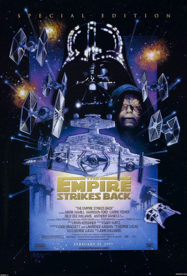 Star Wars, Star Wars Episode V: The Empire Strikes Back, The Empire Strikes Back, Emperor Palpatine, Darth Vader, Star Destroyer