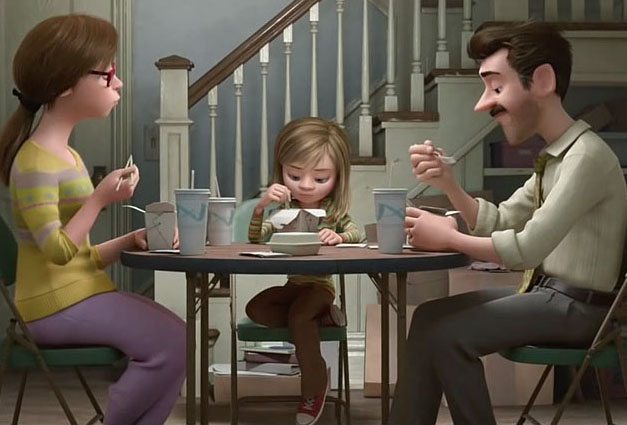 """My Favorite Scene: Inside Out (2015) """"Family Dinner – Inside and Out"""""""