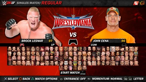 Brock Lesnar, John Cena, WWE 2K17