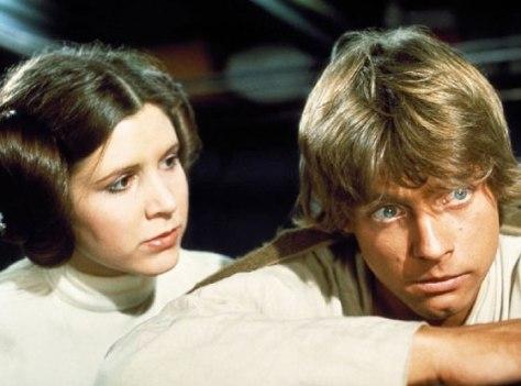 Carrie Fisher, Mark Hamill, Star Wars, Luke Skywalker, Princess Leia