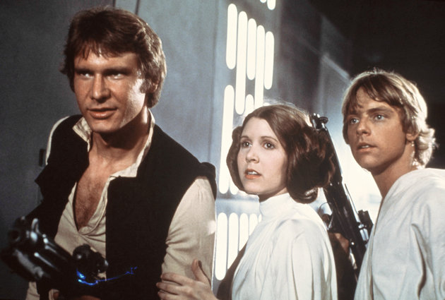 A New Hope, Star Wars, Han Solo, Harrison Ford, Mark Hamill, Luke Skywalker, Princess Leia, Carrie Fisher