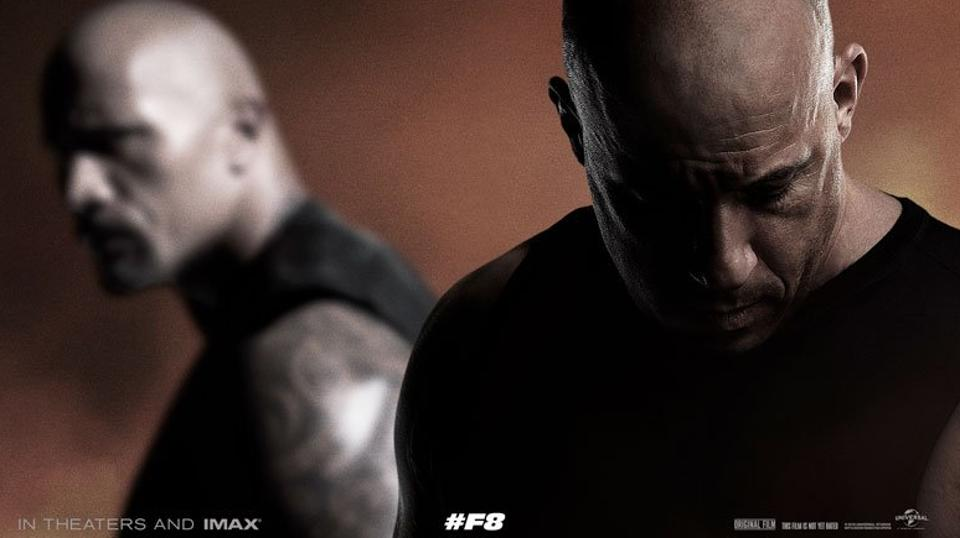 Dwayne Johnson, Vin Diesel, The Fate of the Furious