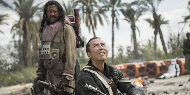 Jiang Wen, Donnie Yen, Rogue One: A Star Wars Story, Baze Malbus, Chirrut Imwe,