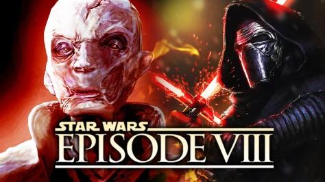 Star Wars Episode VIII, Kylo Ren, Supreme Leader Snoke, Andy Serkis, Adam Driver