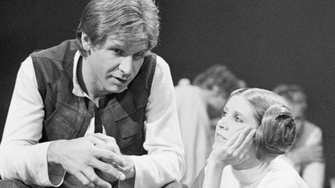 Harrison Ford, Han Solo, Carrie Fisher, Princess Leia, Star Wars