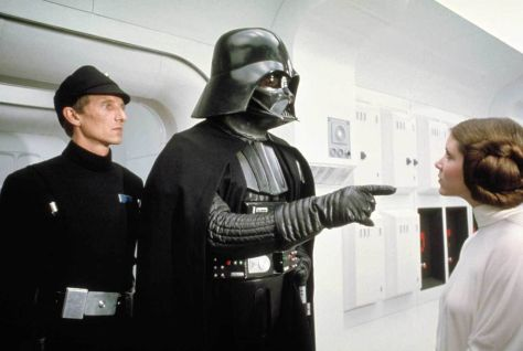Star Wars Episode IV: A New Hope, Darth Vader, Princess Leia, Carrie Fisher, David Prowse