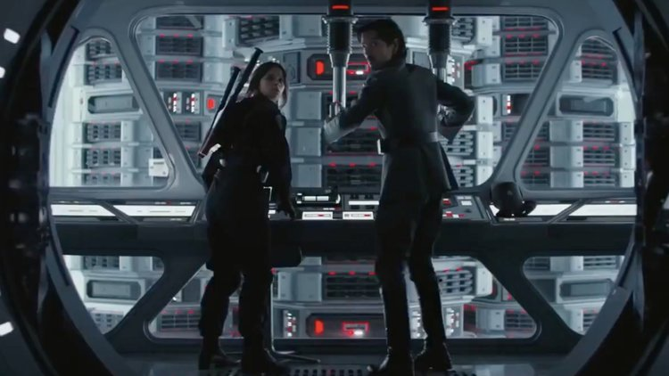 Rogue One: A Star Wars Story, Diego Luna, Cassian Andor, Jyn Erso, Felicity Jones