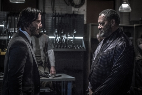 John Wick Chapter 2, Keanu Reeves, Laurence Fishburne