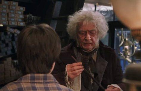 John Hurt, Daniel Radcliffe, Mr. Ollivander, Harry Potter, Harry Potter and the Sorcerer's Stone