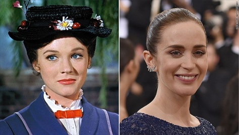 Mary Poppins, Marry Poppins 2, Julie Andrews, Emily Blunt