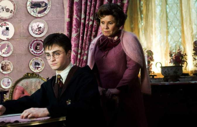 Dolores Umbridge, Harry Potter, Harry Potter and the Order of the Phoenix, Daniel Radcliffe, Imelda Staunton