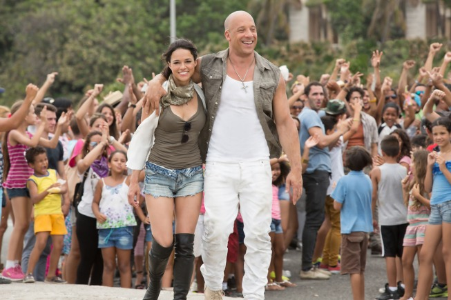 Michelle Rodriguez, Vin Diesel, The Fate of the Furious