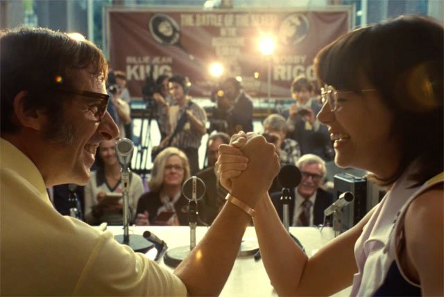 Emma Stone and Steve Carrell in The Battle of the Sexes