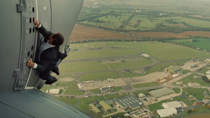 Tom Cruise in Mission Impossible Rogue Nation
