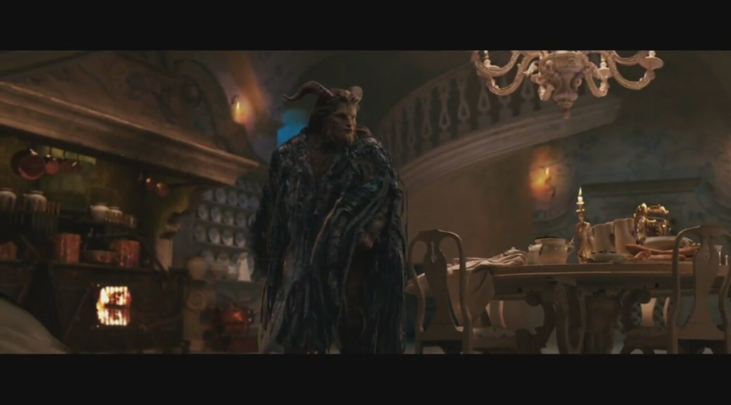 Dan Stevens as the Beast in Disney's Beauty and the Beast