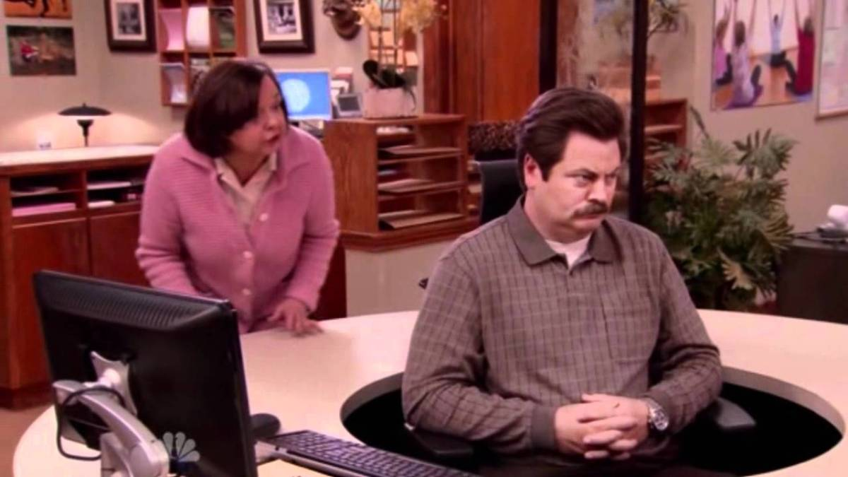 "My Favorite Scene: Parks & Recreation Season 3 (2011) ""Ron's Swivel Chair"""