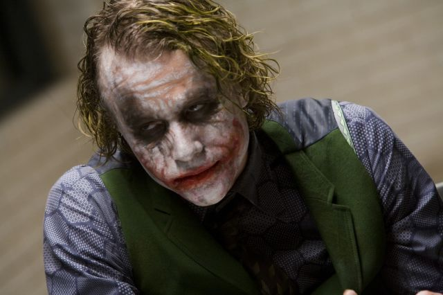 Heath Ledger as The Joker in The Dark Knight