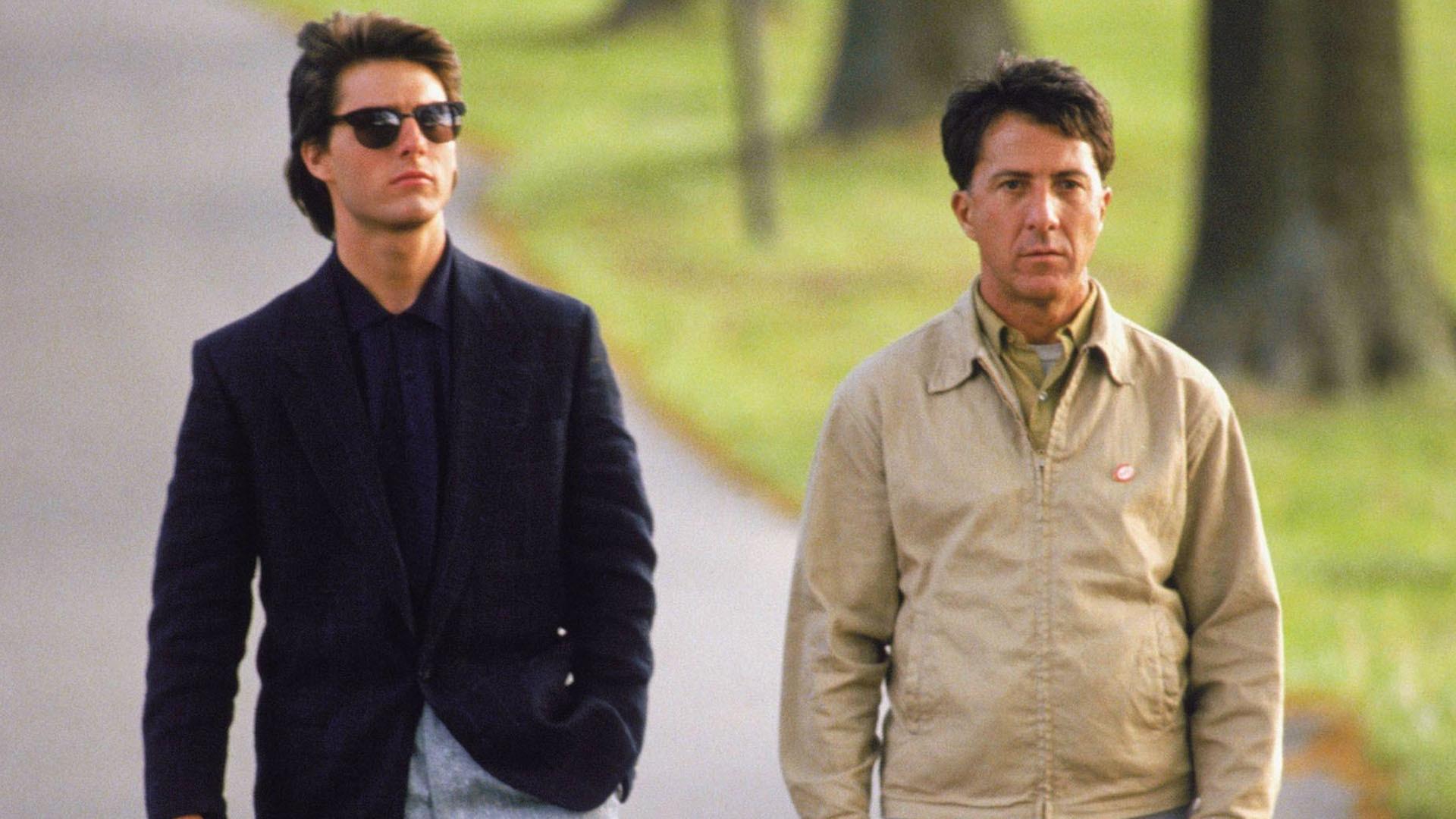 Tom Cruise and Dustin Hoffman in Rain Man