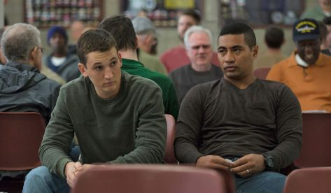 Miles Teller and Beulah Koale in Thank You for Your Service
