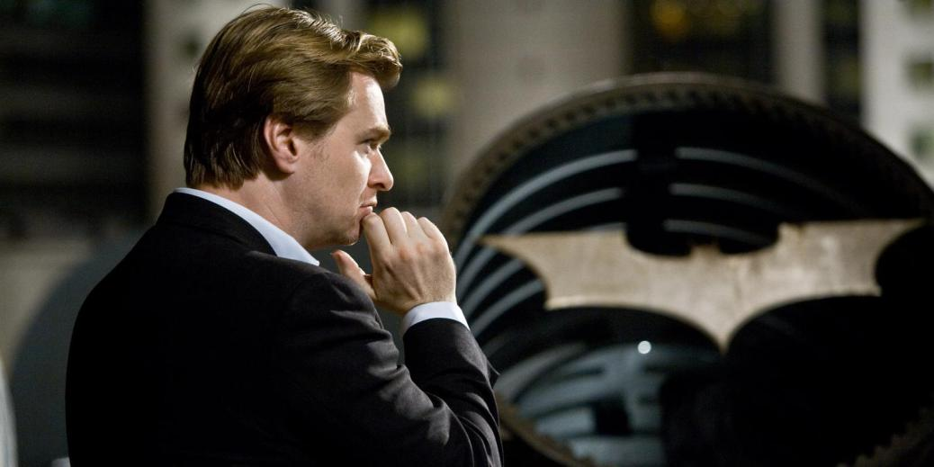 Christopher Nolan on the set of The Dark Knight Rises